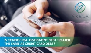 Community association assessment collections vs consumer debt