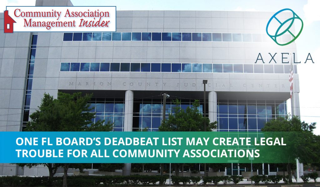 Deadbeat list causes legal troubles