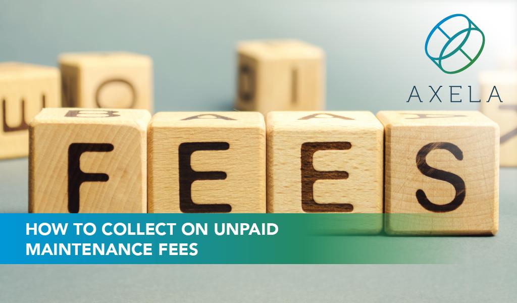 collect unpaid maintenance fees